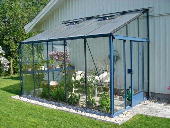 Serre de jardin façade - Serre de jardin adossée en verre - Crysland